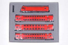 """Hag/Fleischmann S-Bahn-Zugskomposition """"SZU"""" 31 012-31, S H0, komplett, rot, OK, Z 1-2"""