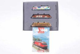 """Hag Lok-Packung """"Jubi-Trio"""" 0390/078, S H0, mit 3 Lokomotiven und Buch, OK, Z 1-2"""