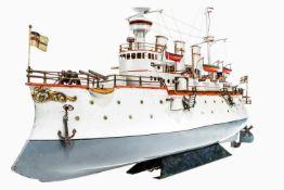 Bing großes Kriegsschiff 13082/3, von 1902-1909, dampfbetrieben, handlackiert, mit 2 Schrauben, 6