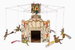 """Cardini Kirmes-Karussell """"Giostra Volante"""" Nr. 57, mit 6 Propeller-Gondeln und Kindern, mit"""