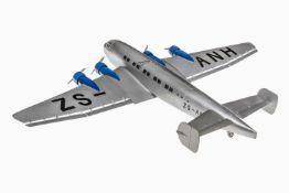 """Märklin Verkehrsflugzeug """"Der große Dessauer"""", nach Junkers-Vorbild, um 1936, ohne Antrieb, Kennung:"""