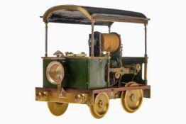Elektrischer Motorwagen, Frankreich, um 1900, Spurweite 70 mm, für Kurvenfahrt, konstruierte,