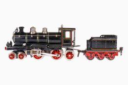 Märklin 2-B-1 Dampflok CEM 1020, mit 3A-Tender, Spur 0, uralt, handlackiert, Uhrwerk intakt, 3 imit.