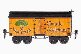 """Märklin amerikanischer Güterwagen """"Heinz Tomato Ketchup"""" 2935, Spur 0, chromolithografiert, 4A, 2"""