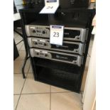 Lot 23 - Lot : 3 amplis CROWN mod. XLS-1000 et cabinet