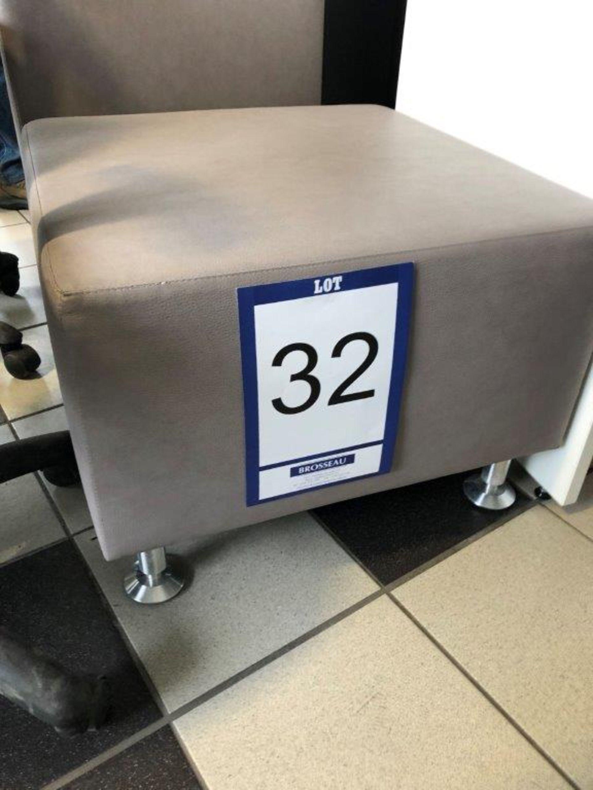 Lot 32 - Lot: 2 poufs en cuirette