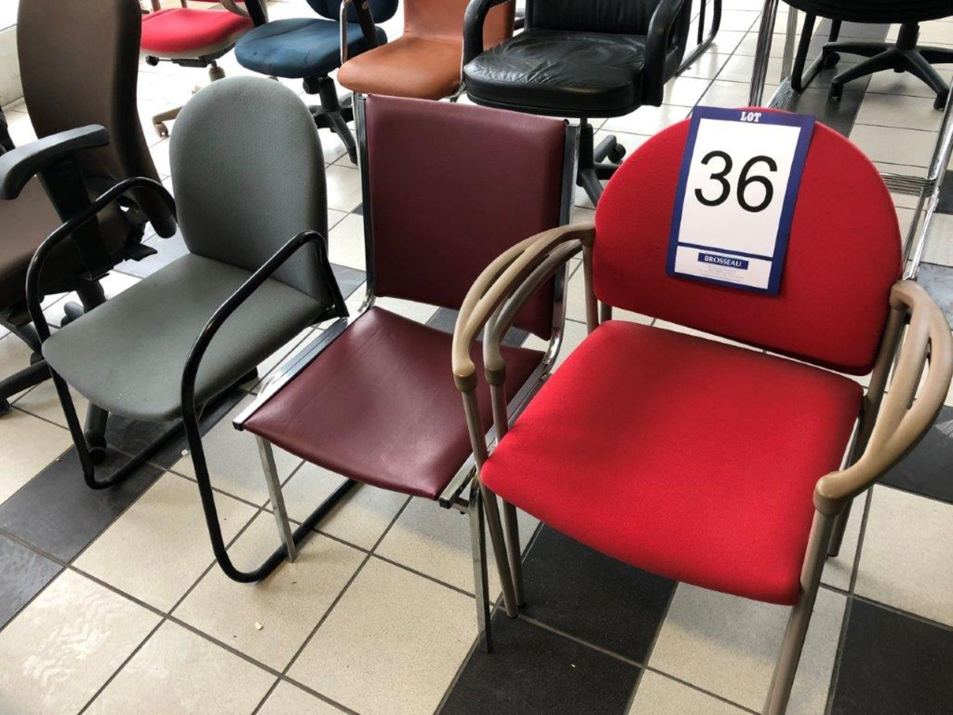 Lot 36 - Lot: 6 fauteuils assortis