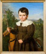 Berliner Porträtmaler, (um 1840), wohl Friedrich Wilhelm Herdt (Berlin 1790-1840)Knabein braunem