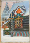 Glazunov, Ilja (St. Petersburg, Moskau 1930-2017)Drei monumentale Wintergemäldemit Ansichten von