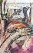 Appelt, Dieter (geb. 1935 in Niemegk)Übermaltes Ausstellungsplakat der Galerie Peter Danckert,