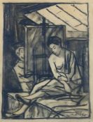 Adametz, Heinrich Emil (Düsseldorf, Berlin 1884-1971)Maler u. Modell und Figurenstudien, 1922/1951/
