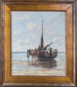 Brons, Hendricus Lambertus (geb. 1894 Hof van Delft)Küstenseglerin seichtem Wasser beim Ausladen des