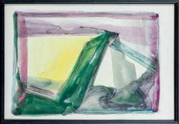 Appelt, Dieter (geb. 1935 in Niemegk)Ohne Titel, 1985Tusche auf gelblichem Bütten. Ca. 27×39 cm.