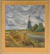 Eden-Sillenstede, Arthur (1899-1977, war ansässig in Jever)Dangaster-MühleSommerlandschaft mit