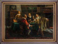 Adam, Joseph (1883-1954)Beim AntiquarHolländisches Interieur mit vier Patriziern beim Betrachten