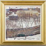 Dantsig, Mai Volfovitch (1930-2017)MinskDünner Malkarton. 57×55,5 cm. Rückseitig Klebezettel mit