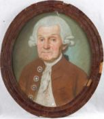 Porträtmaler (Berlin um 1750/60)Justizrat WilkeÄlterer Herr mit weißer Zopfperücke und braunrotem