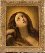 Unbekannter Maler (19. Jh.) , nach älterem VorbildHeilige MagdalenaBrustbildnis mit erhobenem Kopf
