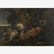 Neapolitanischer Maler (17. Jh.) , wohl Umkreis von Giuseppe ReccoStillleben mit Krustentieren im
