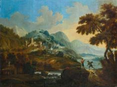 Schinnagel, Maximilian Joseph (Burghausen, Wien 1697-1762) , zugeschriebenGebirgslandschaft mit
