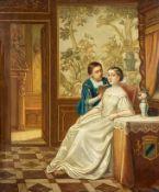 Dietler, Johann Friedrich (Solothurn, Bern 1804–1873)Page, einem adeligen Fräulein vorlesendIn