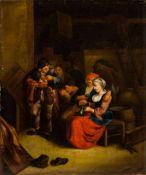 Sorgh, Hendrick Martensz (Rotterdam 1611-1670) , zugeschriebenBäuerliches Interieurmit musizierenden