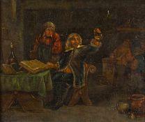 Holländischer Maler (17./18. Jh.) , in der Art des J. C. DroochslootWirtshausinterieurmit Arzt an