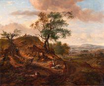 Wynants, Jan (Haarlem, Amsterdam um 1630-1684)Hügelige Landschaftmit aufwärts führendem Weg,