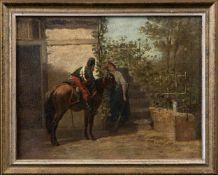 Bombled, Louis Charles (Chantilly, Pierrefouls 1862-1921)AbschiedDragoner zu Pferd, sich von