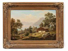 Dittmann, Edmund (Berlin, nachweisbar um 1856-1887)BrienzerseeSchweiz. Bez. mit B. Lwd. 40×58 cm.