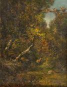 Französischer Maler (in der Art von Narzisse Díaz de la Peña)Waldesdickichtmit heraustretendem