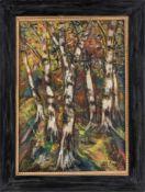 Beyer, Otto (Kattowitz, Berlin 1885-1962)BirkenSign. u. dat. 1927. Lwd. 71×51 cm. R.(58594)- - -20.