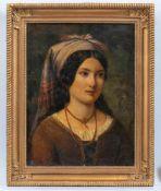 Italienischer Genremaler (Mitte 19. Jh.)Luigia da Alessan, 13 anniMit Korallenschmuck und zum Turban