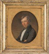 Kindermann, Adolph (Lübeck, Hamburg 1823-1892)Karl Gruhl (1820-1859)Brustbildnis mit blondem Haar