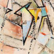 Höch, Hannah (Gotha, Berlin 1889-1978)Komposition mit Dreieckenum 1952Deckfarben auf Papier. 23×23,5