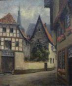 ''Alt Osnabrück''''Alt Osnabrück''Paul Ehrhardt (1888-1981) Öl/Lw, sign., Blick durch Häuser auf