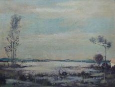 SeenlandschaftWalter SchmockSeenlandschaftTempera/Platte, sign., 60x80 cm, ger., Sperrgutversand