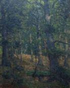 WaldinneresWaldinneresCarl Hessmert (1869-1928) Öl/Lw, sign., Lichtung durch sommerlich belaubte