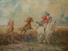 Jagd zu PferdJagd zu PferdFriedrich Petersen, 1.Hälfte 20.Jh. Jagdgesellschaft zu Pferd an