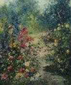 """""""Steingarten""""Friedrich Adolf Apfelbaum, 1904-'74""""Steingarten""""Öl/Platte, sign., rs. bez.,"""