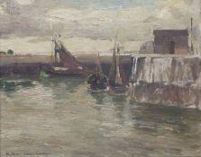 Schiffe im HafenSchiffe im HafenGeorg Hambüchen (1901-1971) Öl/Platte, sign., R, 22x26cm