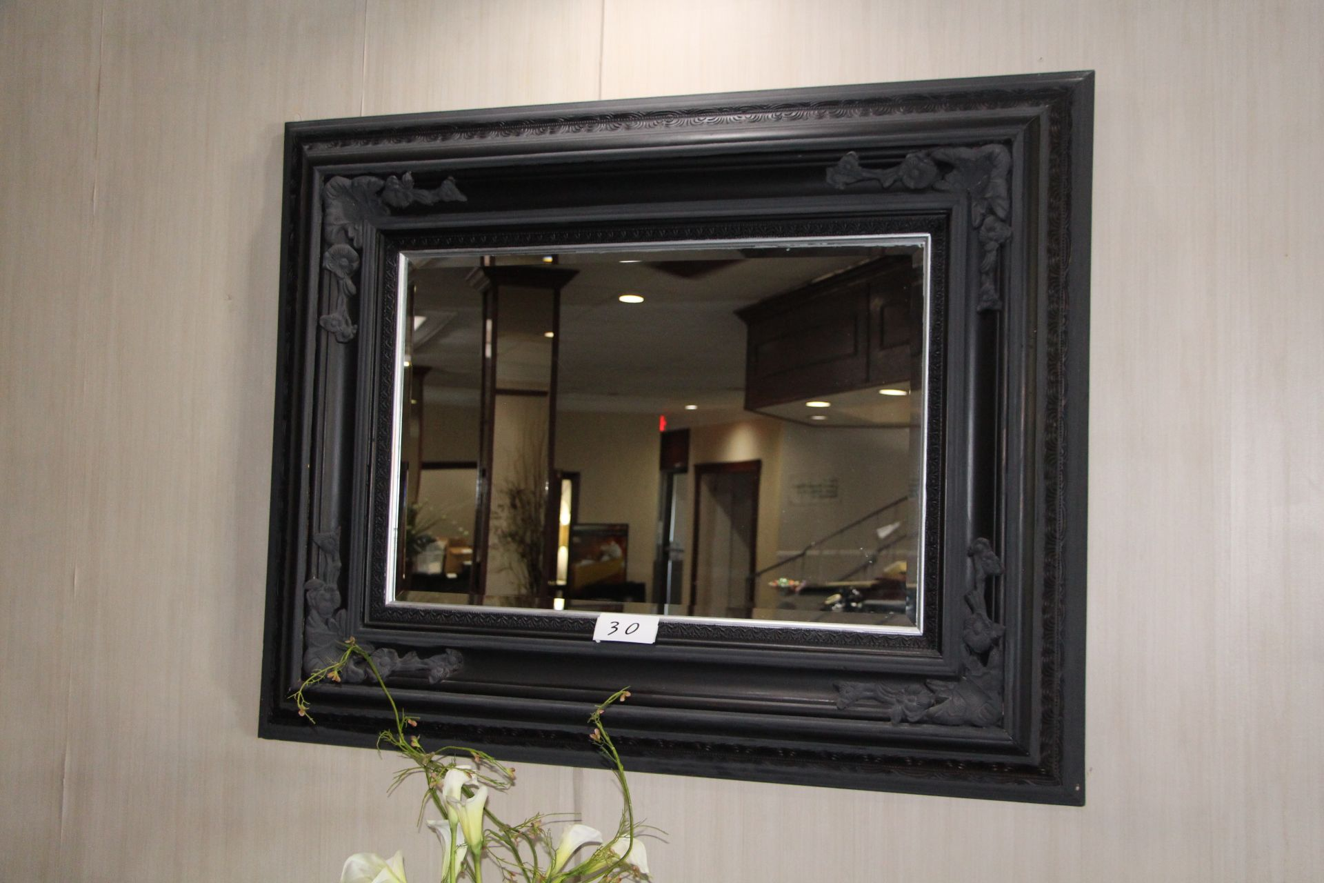 Lot 30 - Wooden framed mirror