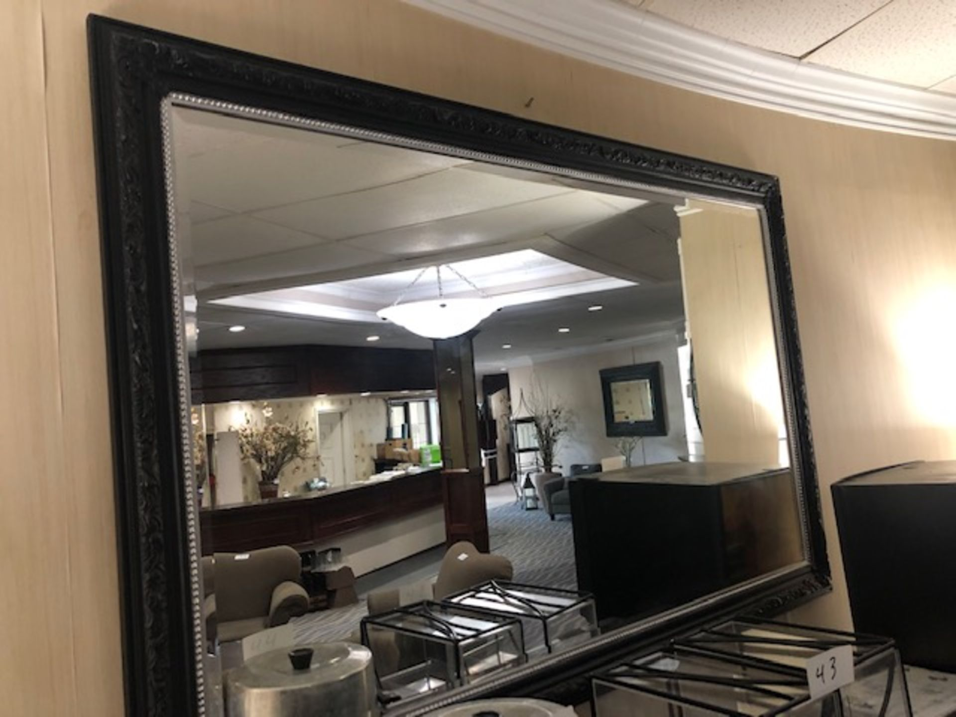 Lot 49A - Large Framed Decorative Mirror
