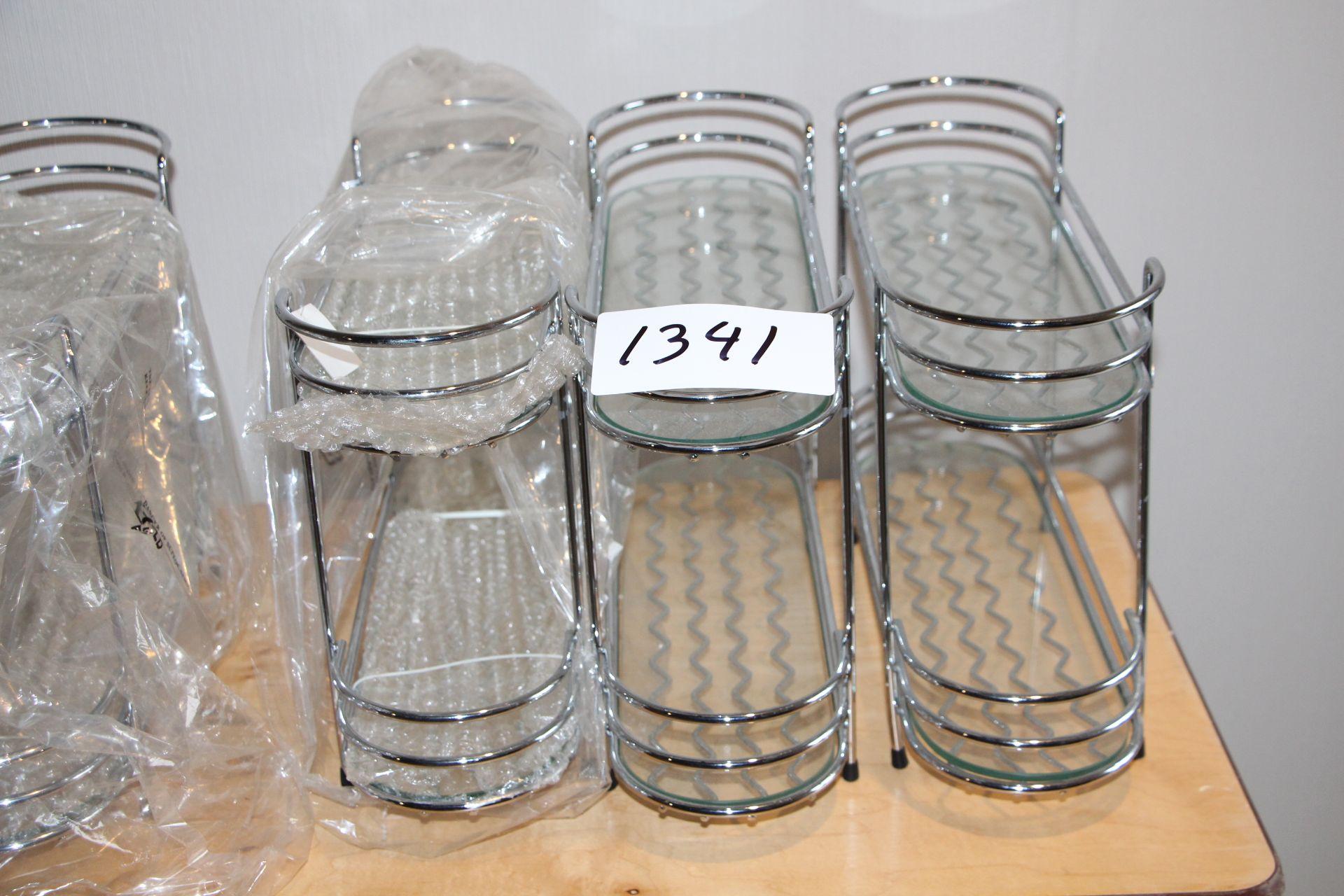Lot 1341 - Lot 3 chrome racks
