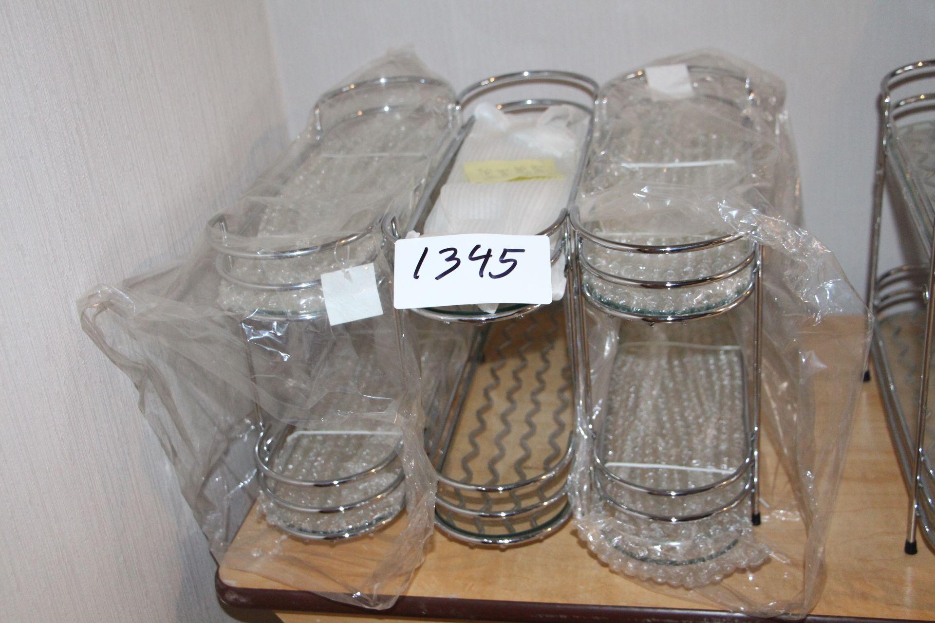 Lot 1345 - Lot 3 chrome racks