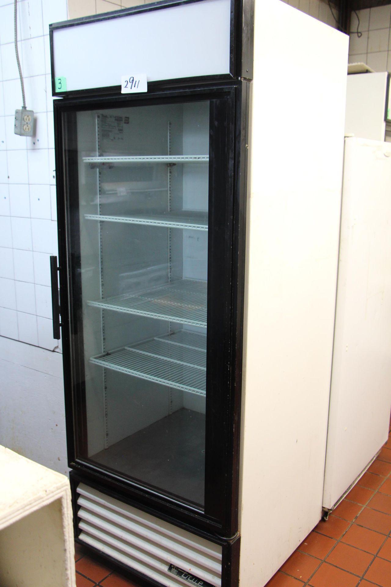 Lot 2911 - True TAA9421DXA glass door refridgerator