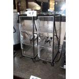 Lot 2 metal /Arcylic bagel display