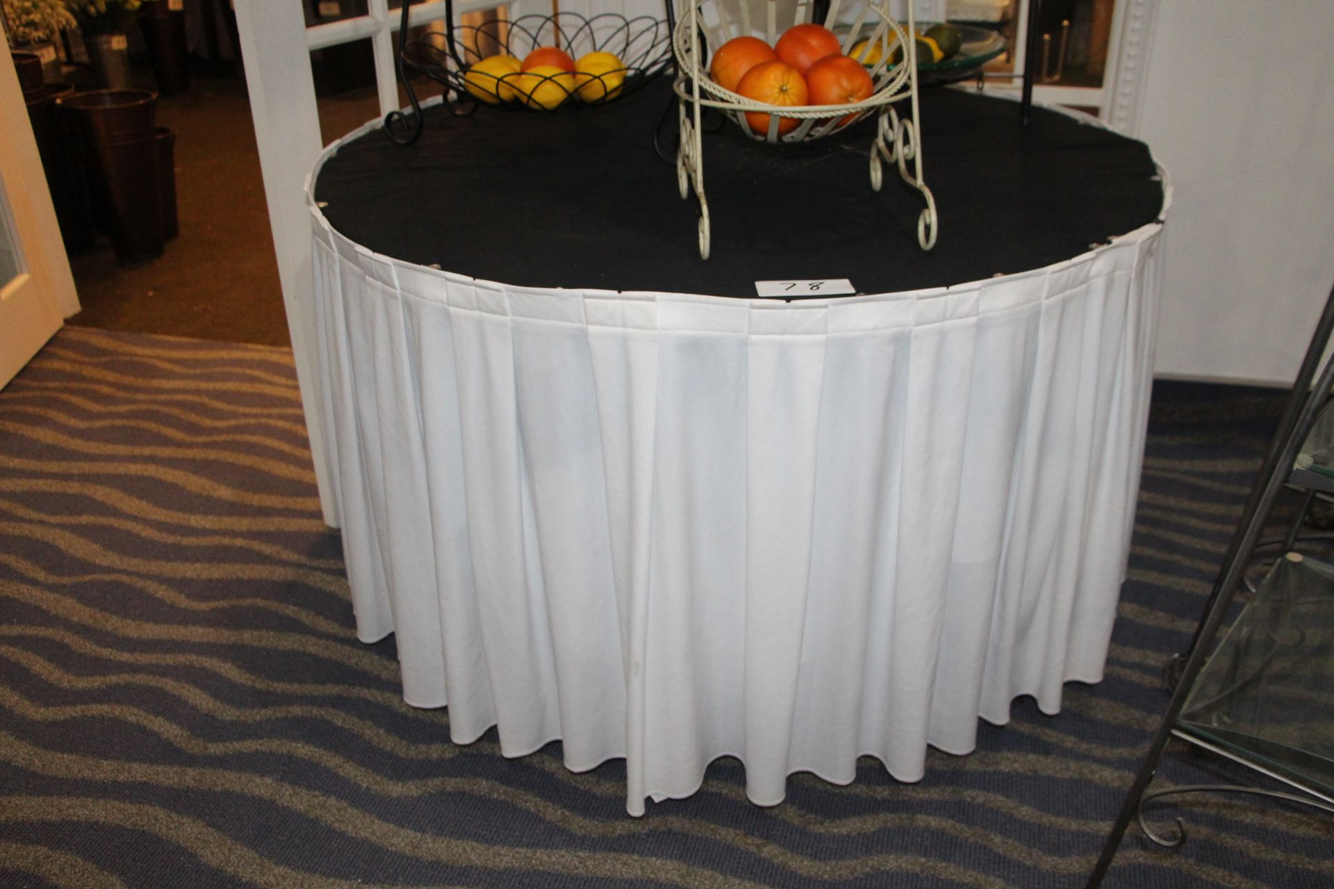 """Lot 78 - 45"""" round table w/ side skirt"""