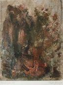 """Lange, Peter J. *1940 Aurich, in Worpswede ansässig. """"Fundstelle"""". Mischtechnik. 2001. Signiert,"""
