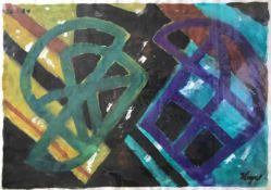 Heyer, Hans. 1909 Frankfurt/M - 1985 Hamburg. Abstrakte Komposition. Aquarell, mit Deckweiß
